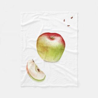 Fresh apple fleece blanket