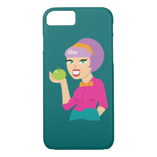 Fresh Apple Retro Nutritionist iPhone 7 Case