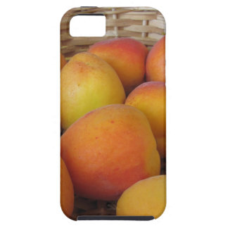 Fresh apricots in a wicker basket iPhone 5 case