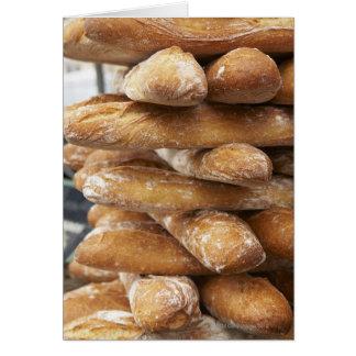 Fresh artisan baguettes greeting card