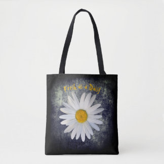Fresh as a Daisy photo with customisable text Tote Bag