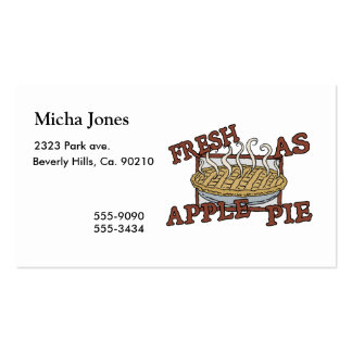 Fresh As Apple Pie Double-Sided Standard Business Cards (Pack Of 100)
