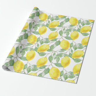 """FRESH AS LEMONS"" WRAPPING PAPER"