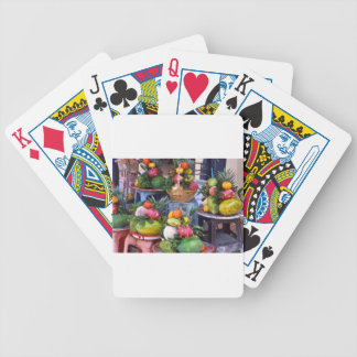 Fresh Asian Fruits Bicycle Playing Cards