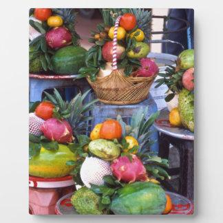 Fresh Asian Fruits Plaque