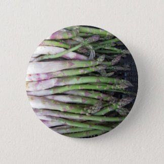 Fresh asparagus hand picked from the garden 6 cm round badge