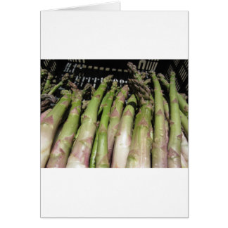 Fresh asparagus hand picked from the garden card