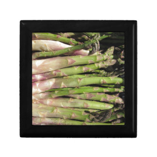 Fresh asparagus hand picked from the garden gift box