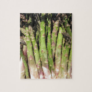 Fresh asparagus hand picked from the garden jigsaw puzzle
