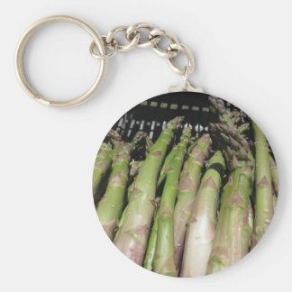 Fresh asparagus hand picked from the garden key ring
