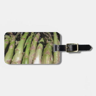 Fresh asparagus hand picked from the garden luggage tag
