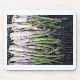 Fresh asparagus hand picked from the garden mouse pad