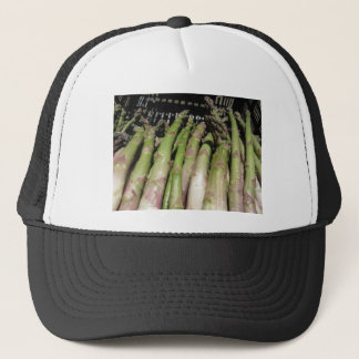 Fresh asparagus hand picked from the garden trucker hat
