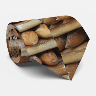 Fresh baguettes at a market tie