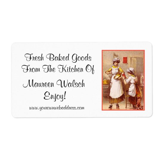 Fresh Baked Goods ~ Vintage Shipping Label