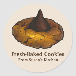 Fresh-Baked Peanut Butter Cookie Stickers
