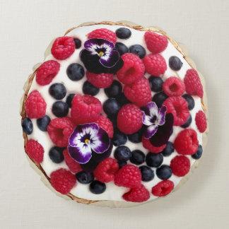 Fresh Berries Pie Round Pillow