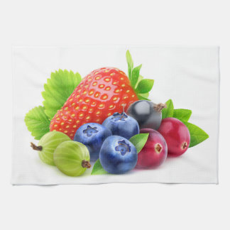 Fresh berries tea towel