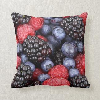 Fresh Berry Fruit Background Cushion