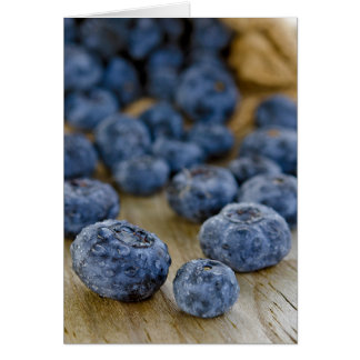 Fresh Blueberries Card