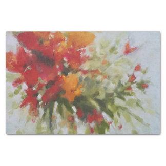 fresh bouquet flowers Watercolor Artwork Tissue Paper