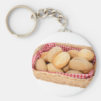 Fresh bread rolls key ring