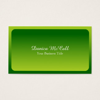 Fresh Bright Green Hombre Professional Business Card