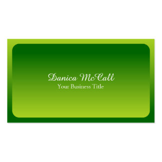 Fresh Bright Green Hombre Professional Pack Of Standard Business Cards