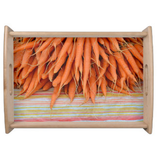 Fresh carrots serving tray