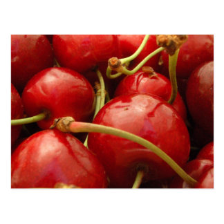 Fresh cherries postcard