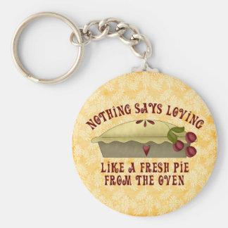 Fresh Cherry Pie Basic Round Button Key Ring