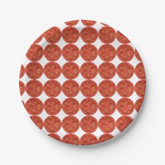 Fresh Cherry Tomato Paper Plate
