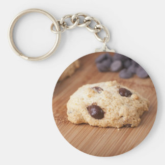 Fresh Chocolate Chip Cookie Basic Round Button Key Ring