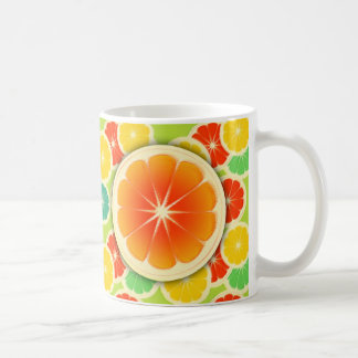 Fresh Citrus Fruit Design, Cute Colorful Coffee Mug