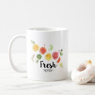 Fresh -  Citrus Fruits in Watercolor Coffee Mug
