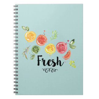 Fresh -  Citrus Fruits in Watercolor Notebook