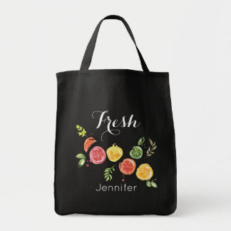Fresh -  Citrus Fruits in Watercolor Tote Bag