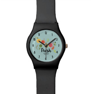 Fresh -  Citrus Fruits in Watercolor Watch