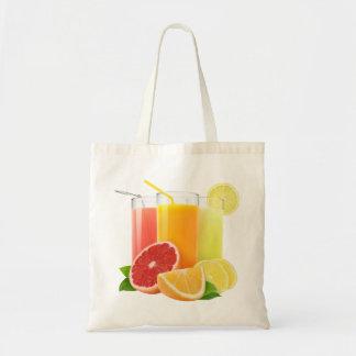 Fresh citrus juices budget tote bag