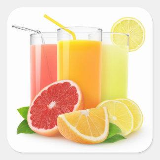 Fresh citrus juices square sticker