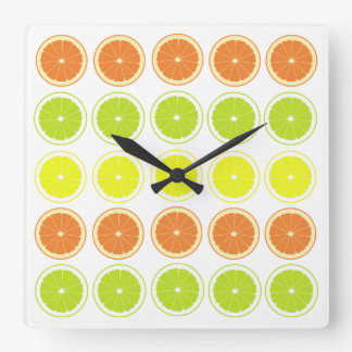 Fresh Citrus Theme Kitchen Clocks