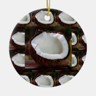 Fresh Coconut chefs healthy flavour cuisine foods Round Ceramic Decoration