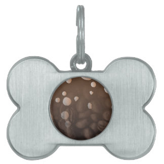 Fresh Coffee Background Pet Tag