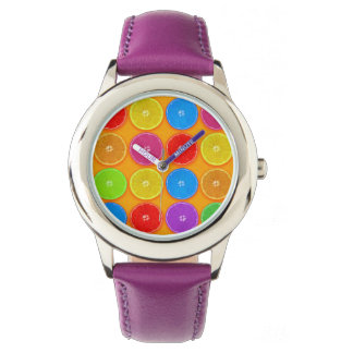 Fresh Colorful Orange Slices Watch