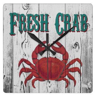 Fresh Crab Square Wall Clock