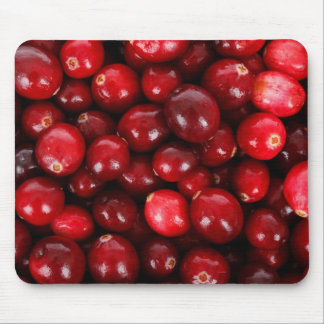 Fresh Cranberry Background Mouse Pad