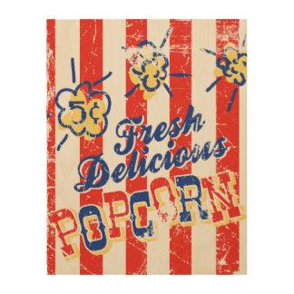 Fresh Delicious Popcorn Retro Wood Sign 11x14