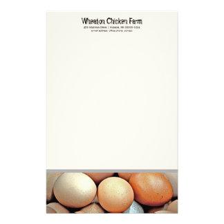 Fresh Eggs Chicken Farmers Personal Writing paper Custom Stationery