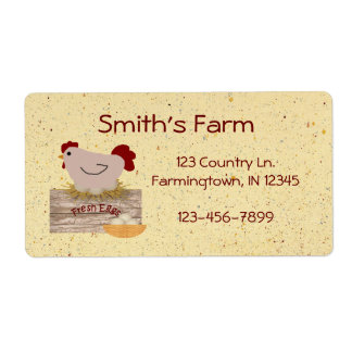 Fresh Eggs Custom Label Shipping Label