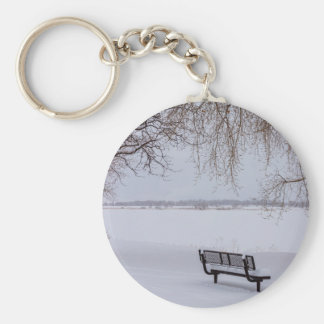 Fresh Fallen Snow Key Ring